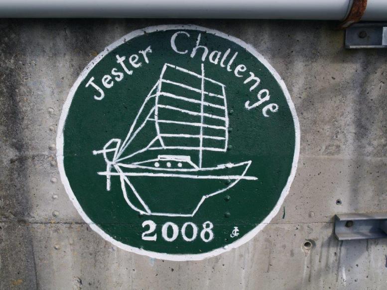 Jester Challenge artwork on the Praia da Vittoria seawall. https://jesterchallenge.wordpress.com/